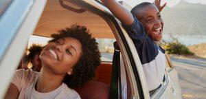 automobile happy family